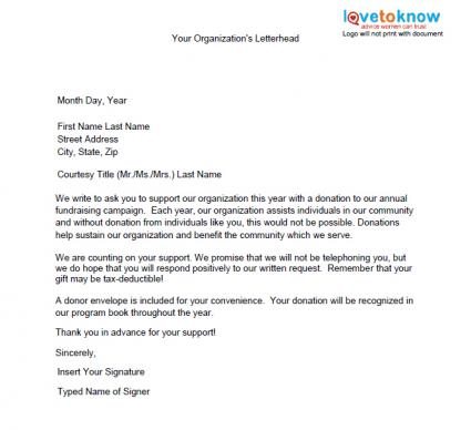 Donation Letter Template 25 Free Word Pdf Documents Free How To