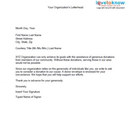 Samples Of Non Profit Fundraising Letters How To Write A Letter