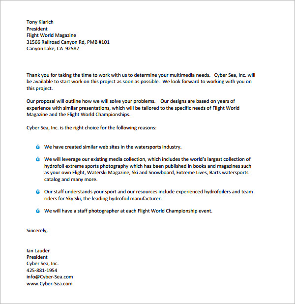 sample bid proposal letter Gecce.tackletarts.co