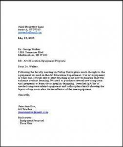 writing business letters samples